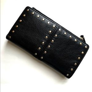 Michael Kors Black Leather Studded Astor Wallet